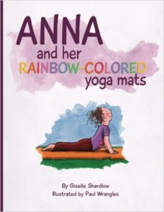 Anna and Her Rainbow Colored Yoga Mat